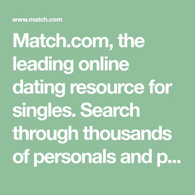 match com search singles