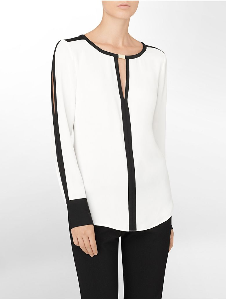 e4de9542d08f Color block blouse