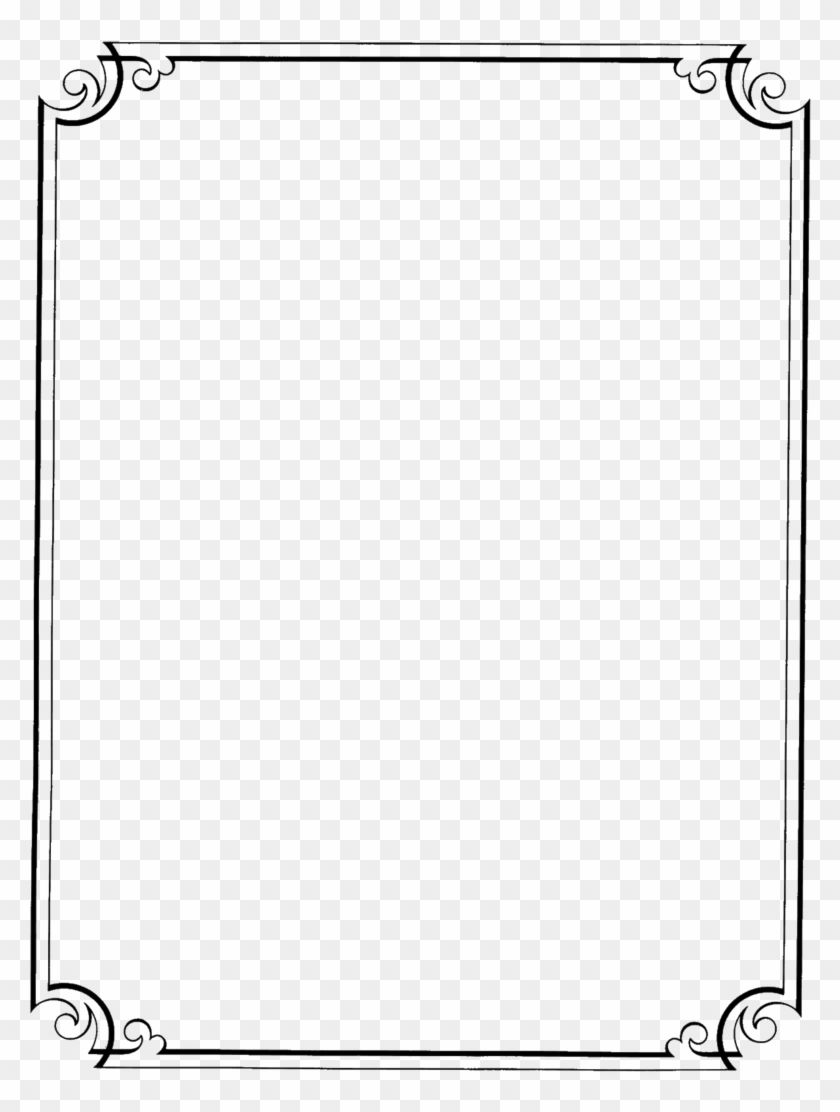 Page Border Design In Black And White Png Download Page Borders Transparent Background Png Downl Page Borders Design Frame Border Design Borders For Paper
