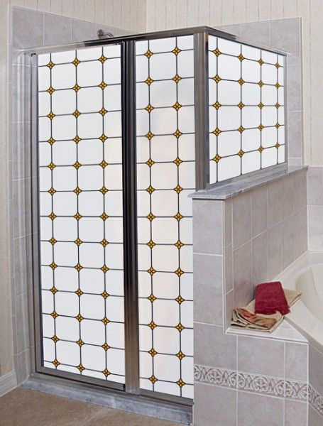 monterey sun stained glass privacy window film is perfect for shower enclosures creative. Black Bedroom Furniture Sets. Home Design Ideas