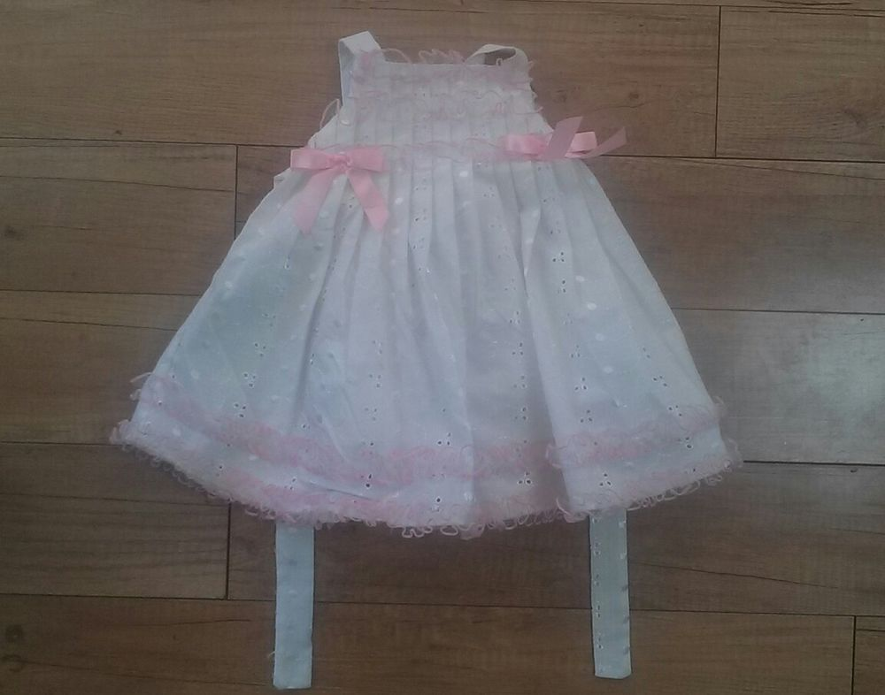 EUC Bonnie Baby Infant Pink Baby Girls Size 6-9 Month Tulle Pleated ...