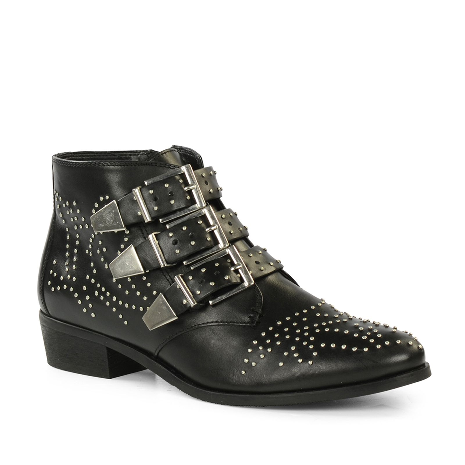 efa404687b3 Zwarte buckle boots met studs in 2019 | shoes - Buckle boots, Shoes ...