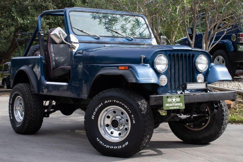 Blue 1985 Jeep Cj 7 With V8 18995 Jeep Cj Jeep Jeep Cj7