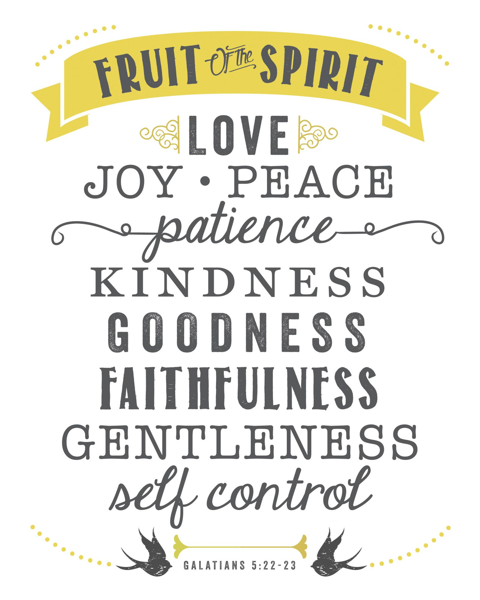 Free Printable Fruit of the Spirit | Fruit of the spirit, Love joy ...
