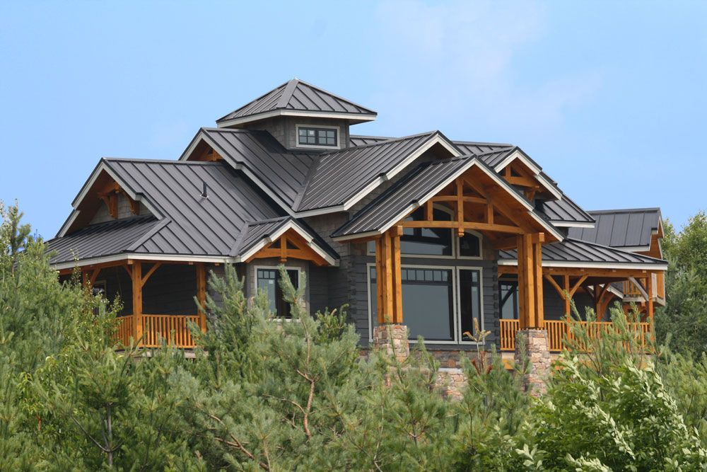 Standing Seam Steel Roofing From Vicwest Visit Steelroofsource Com For More Information Metal Roof Houses Wood Siding House Metal Roof
