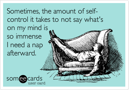 Another good reason for a nap. Haha but it's true!