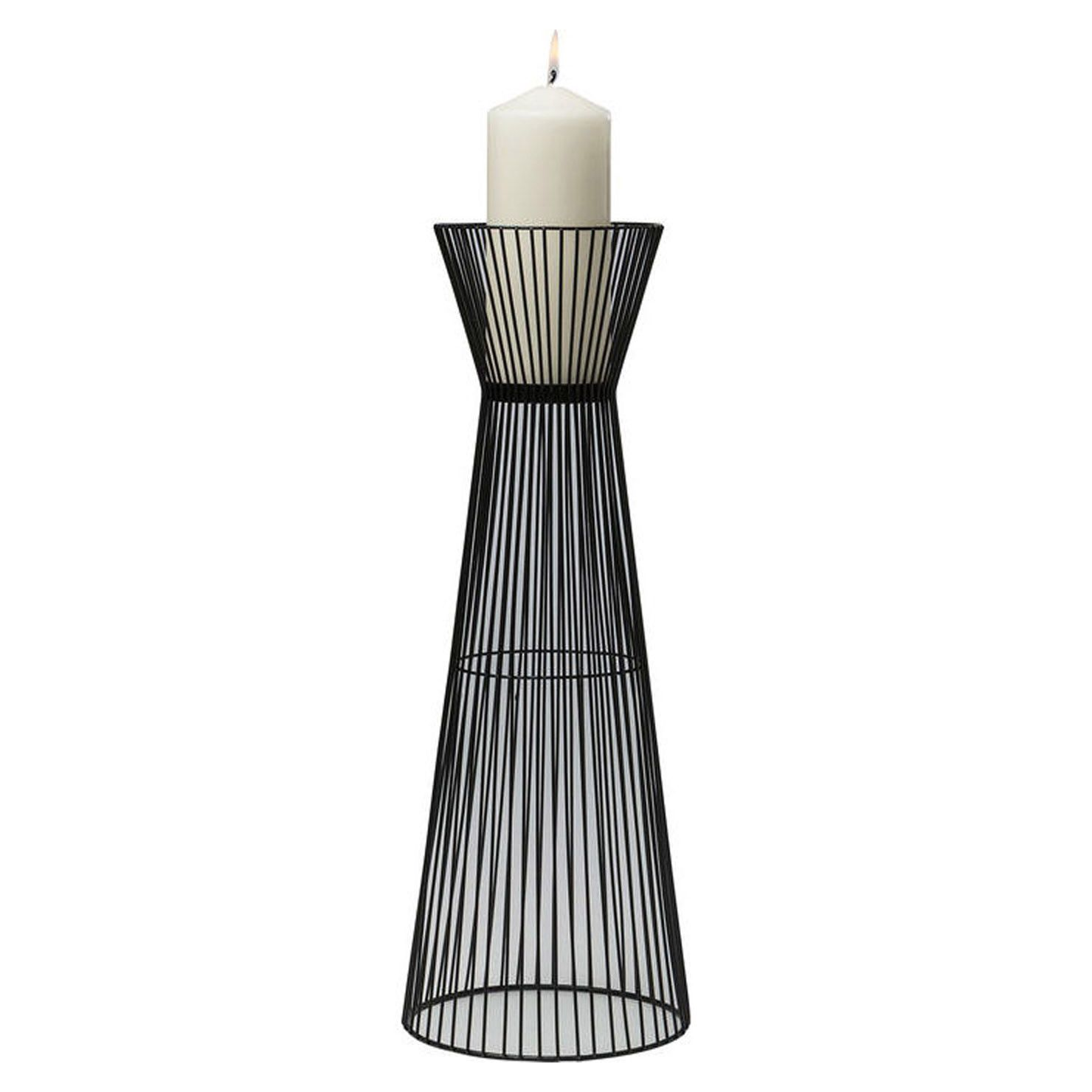 Wire Candle Holder, Black, H50 cm