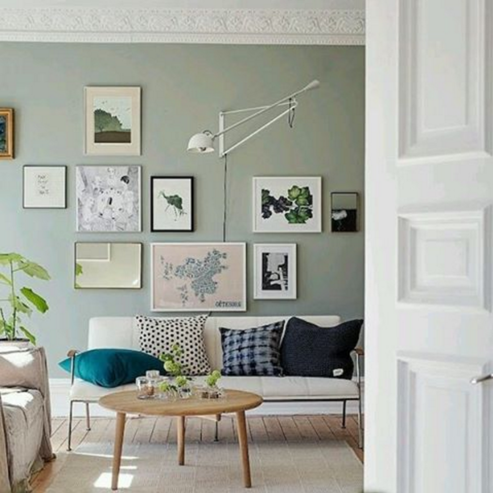 See more images from 35 ways to use sage green on decor ideas for our home italy - Wall decor for green walls ...