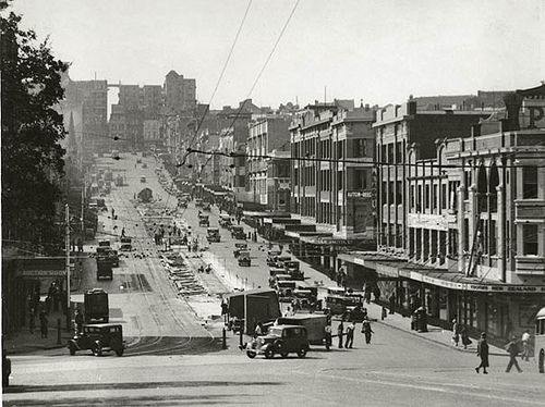 William Street, 1930's Sydney by State Records NSW,