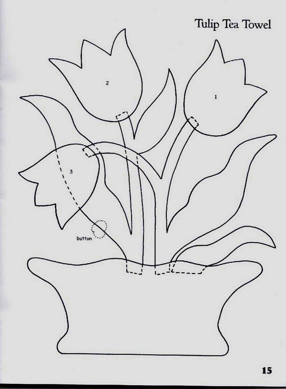 vaso flores | manualidades | Pinterest | Vasos, Molde y Apliques