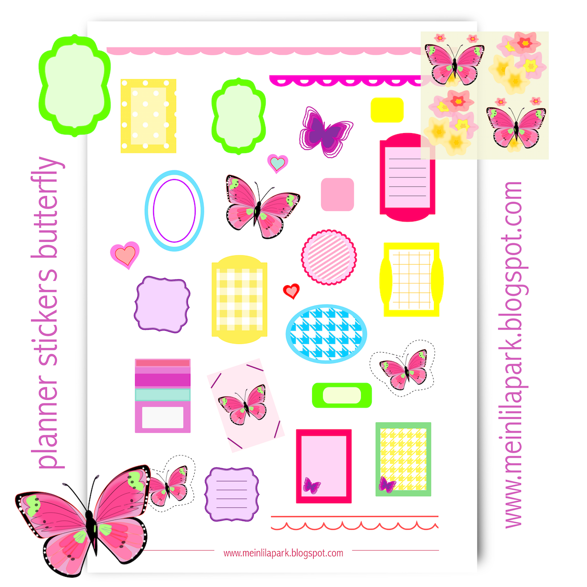 free printable planner stickers and scrapbooking papers