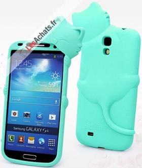 Coque Galaxy S4 Samsung Chat bleu