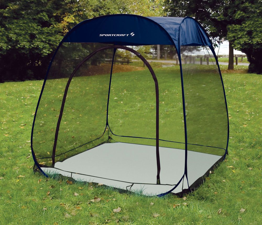new sportcraft 6'x6' pop up outdoor mesh screen room camping 6