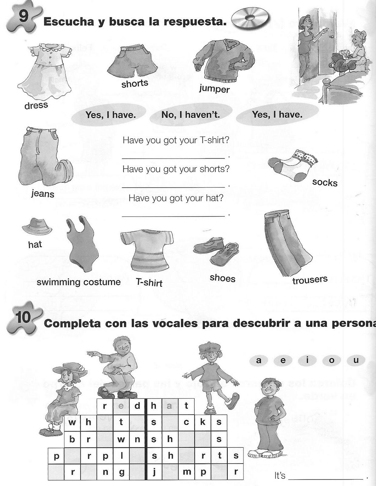 Dibujos Ropa Ingles Prendas Imprimir Para Ajilbabcom Portal