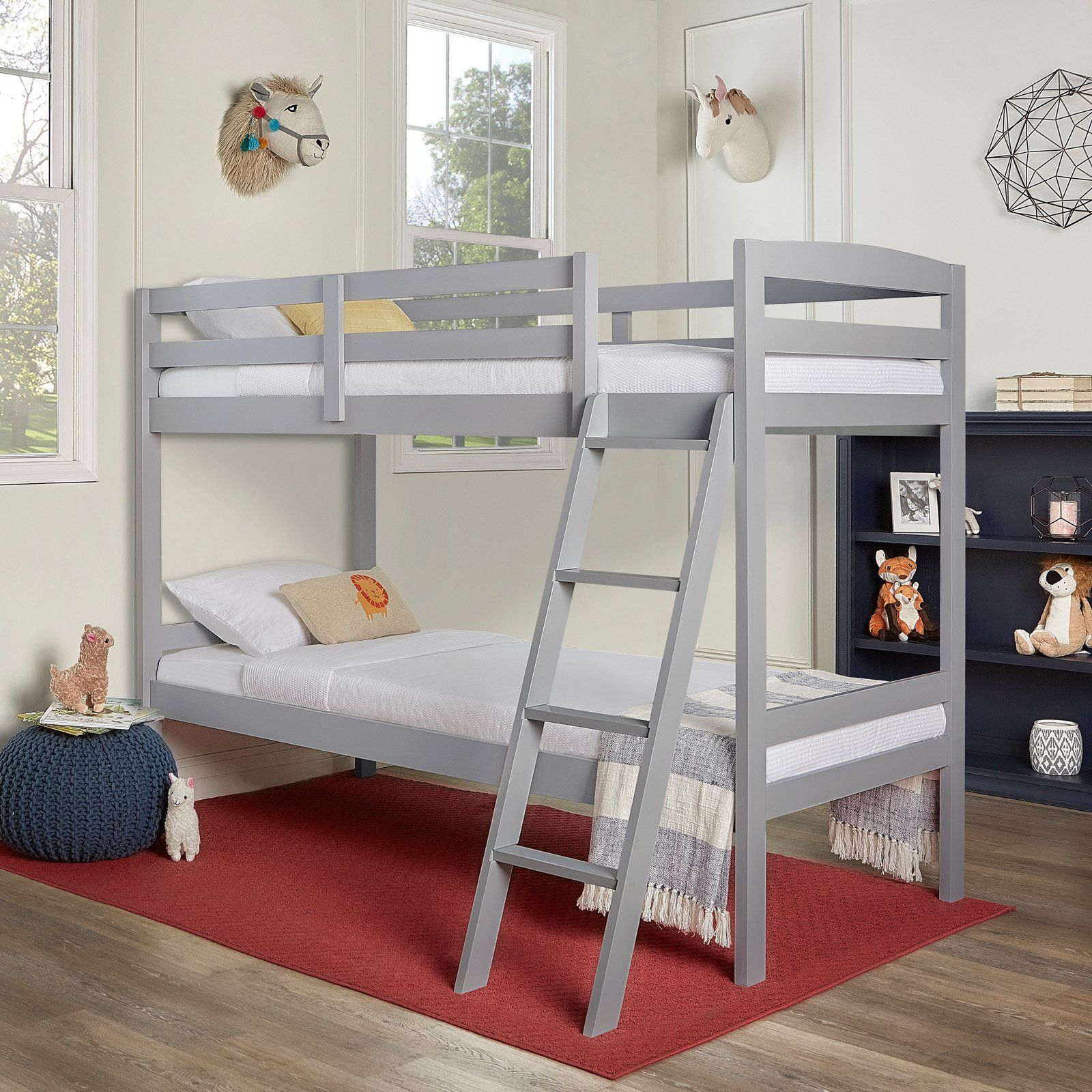 Dream on Me Taylor Twin Over Twin Bunk Bed White bunk