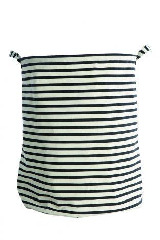 LYS VINTAGE | Wäschekorb Stripes schwarz groß | Shop