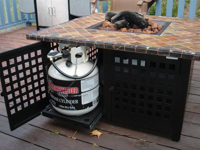DIY Fire Pit Table Propane. Outdoor ...