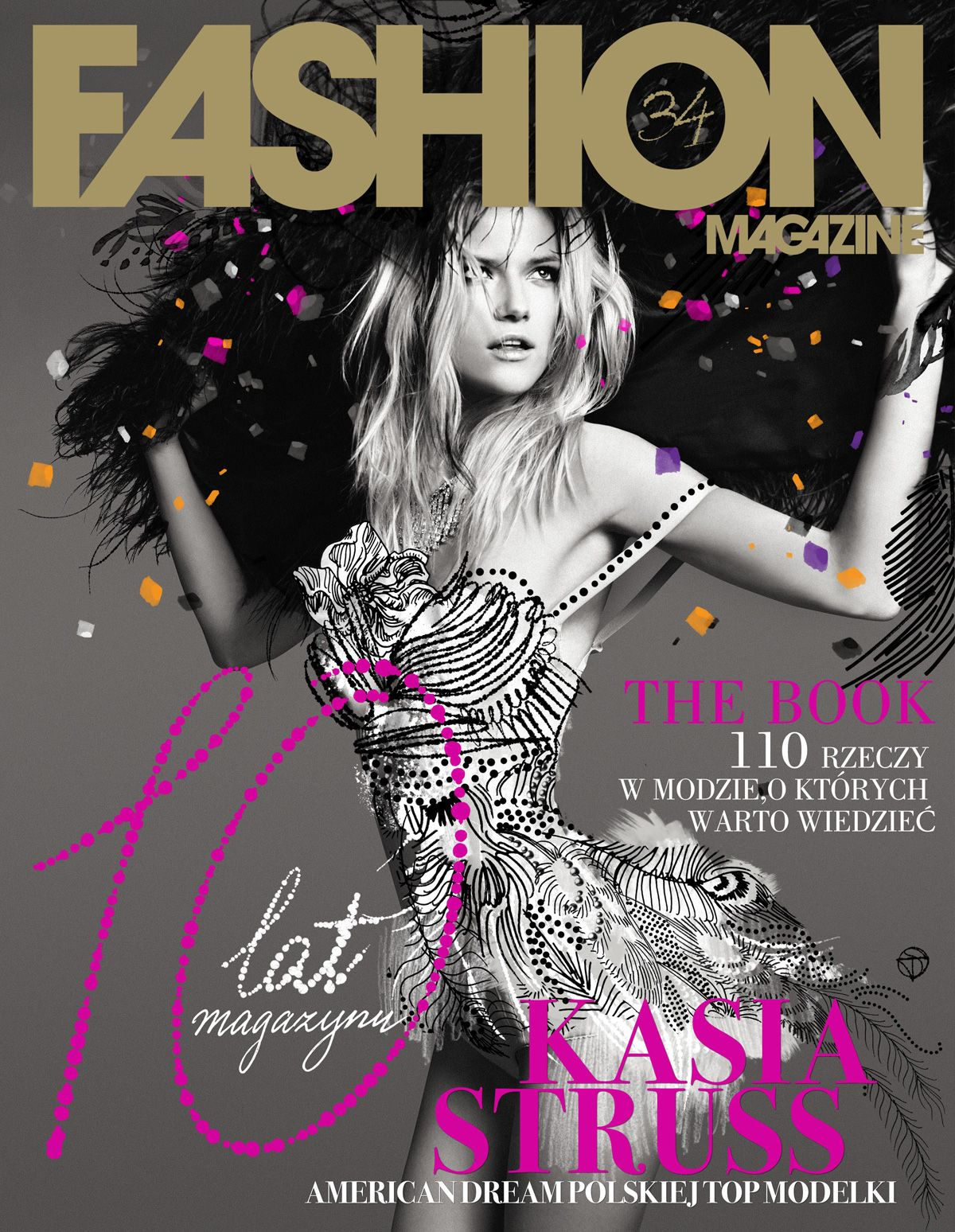Book Cover Of Fashion ~ Exclusive kassia struss for fashion magazine s th anniversary