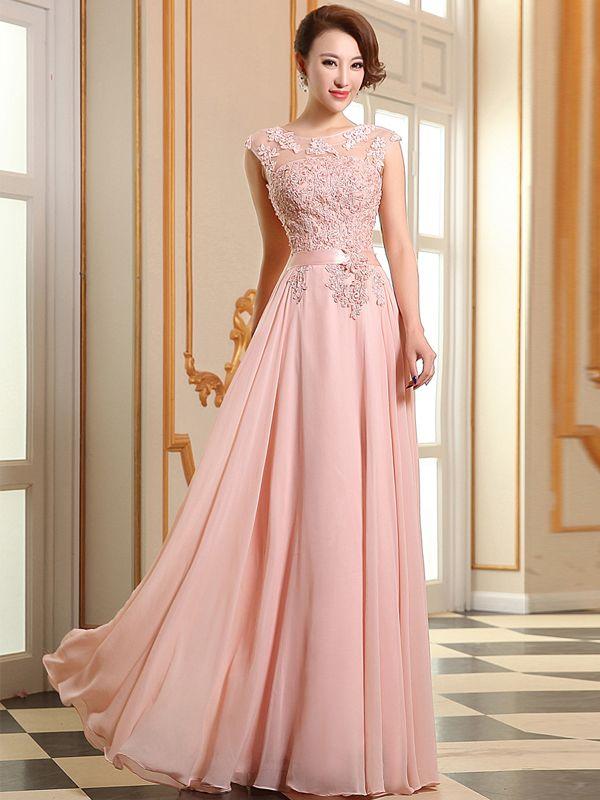 First-Class A-line Beading Applique Floor Length Prom Dress   Prom ...