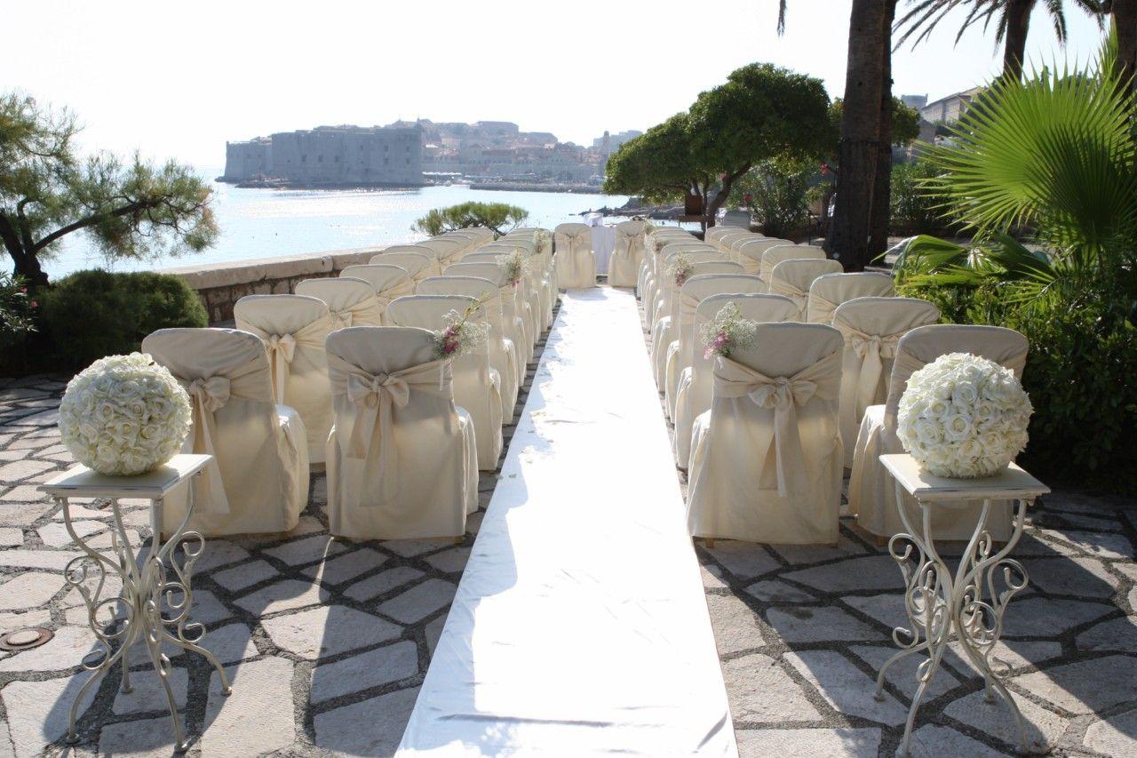 Elegant Private Terrace wedding venue in Dubrovnik, Croatia