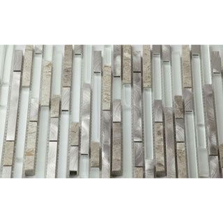 Shop For Martini Mosaic Riga Dazzle Stone 12 X 12 Inch Backsplash Tile (Set