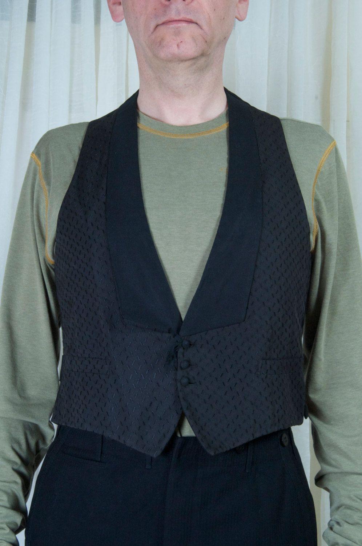 1930s Mens Dress Vest Black Texture Patterned Well Made Etsy Vest Dress Mens Dress Vests Men Dress [ 1500 x 996 Pixel ]