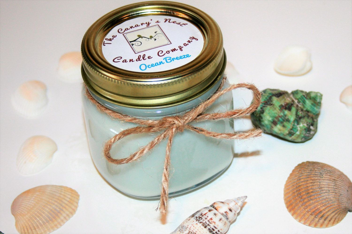 Ocean breeze soy wax candle mason jar candles soy candles clean