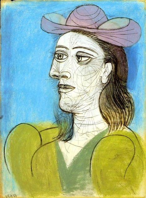 Pablo Picasso, 1938 Buste de femme au chapeau | Pablo Picasso ...