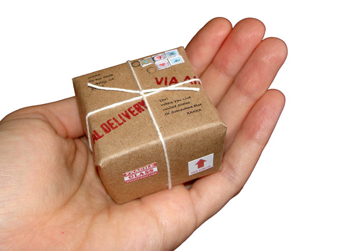 miniature mail, tiny mail, tiny mail package, miniature mail gift