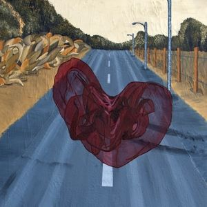 """""""Hitchhiker"""" by TCK artist CHRISTINE RASMUSSEN who calls herself a """"painter of in-between places."""" Her paintings explore themes of place, identity, boundaries & belonging. [Pinned by Heidi Tunberg]"""