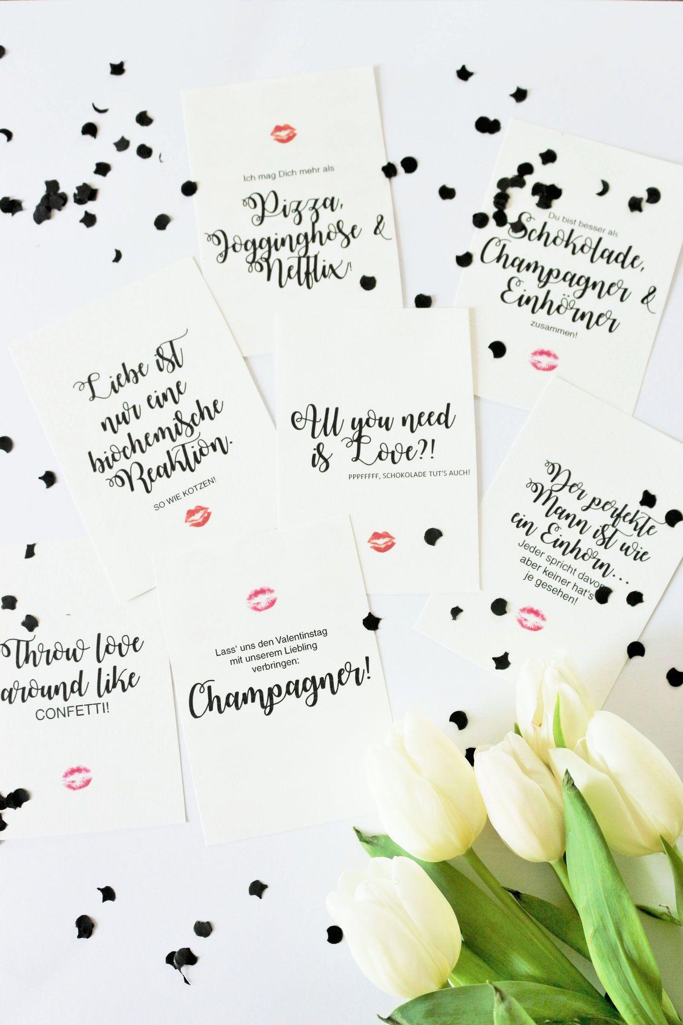 Freebie Karten Als Diy Geschenk Idee Zum Valentinstag Geschenke