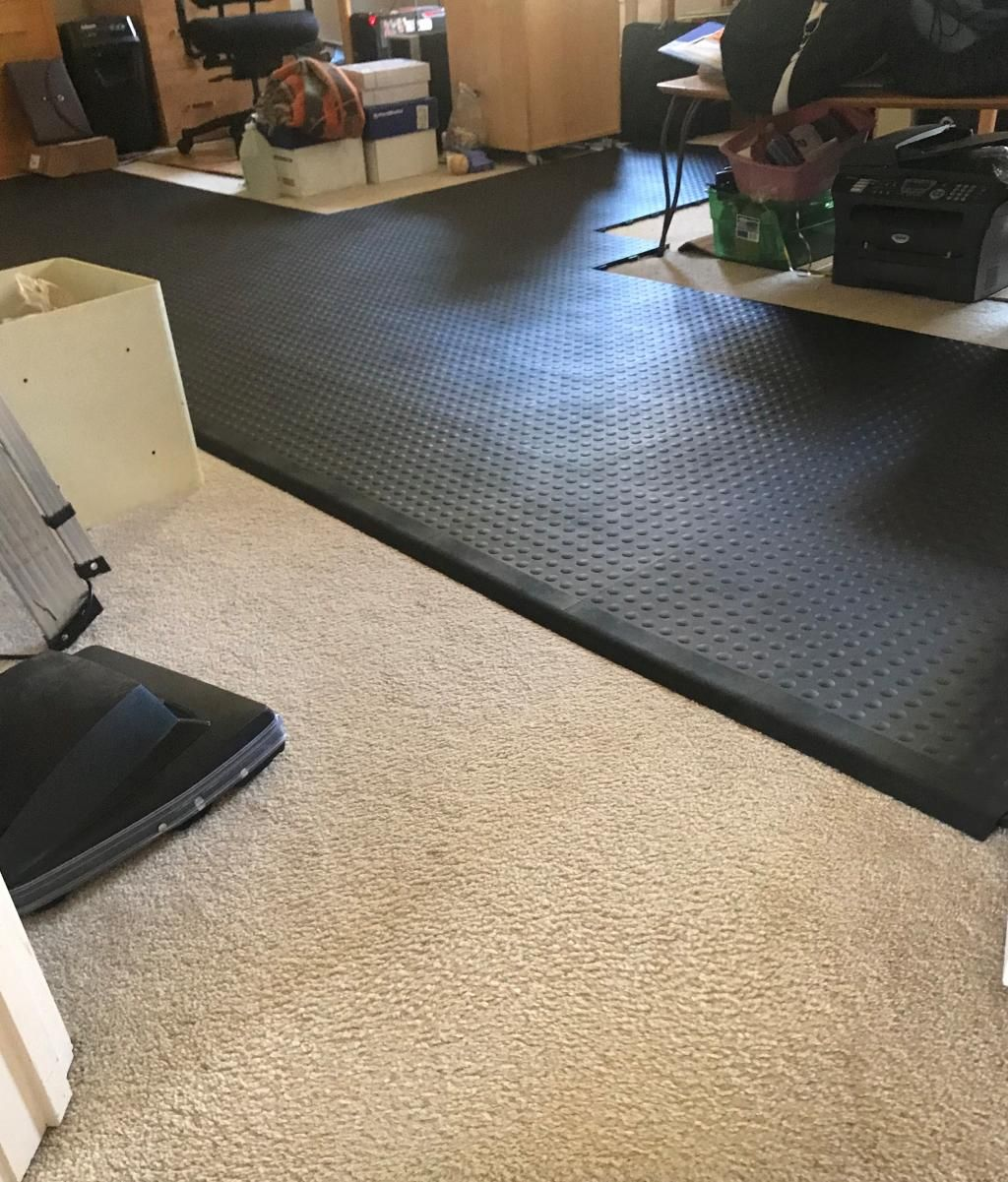 StayLock Tile Bump Top Black Home gym flooring, At home