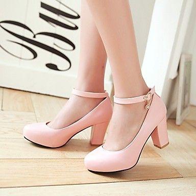 25.29] Mulheres Sapatos Courino Primavera Verão Salto