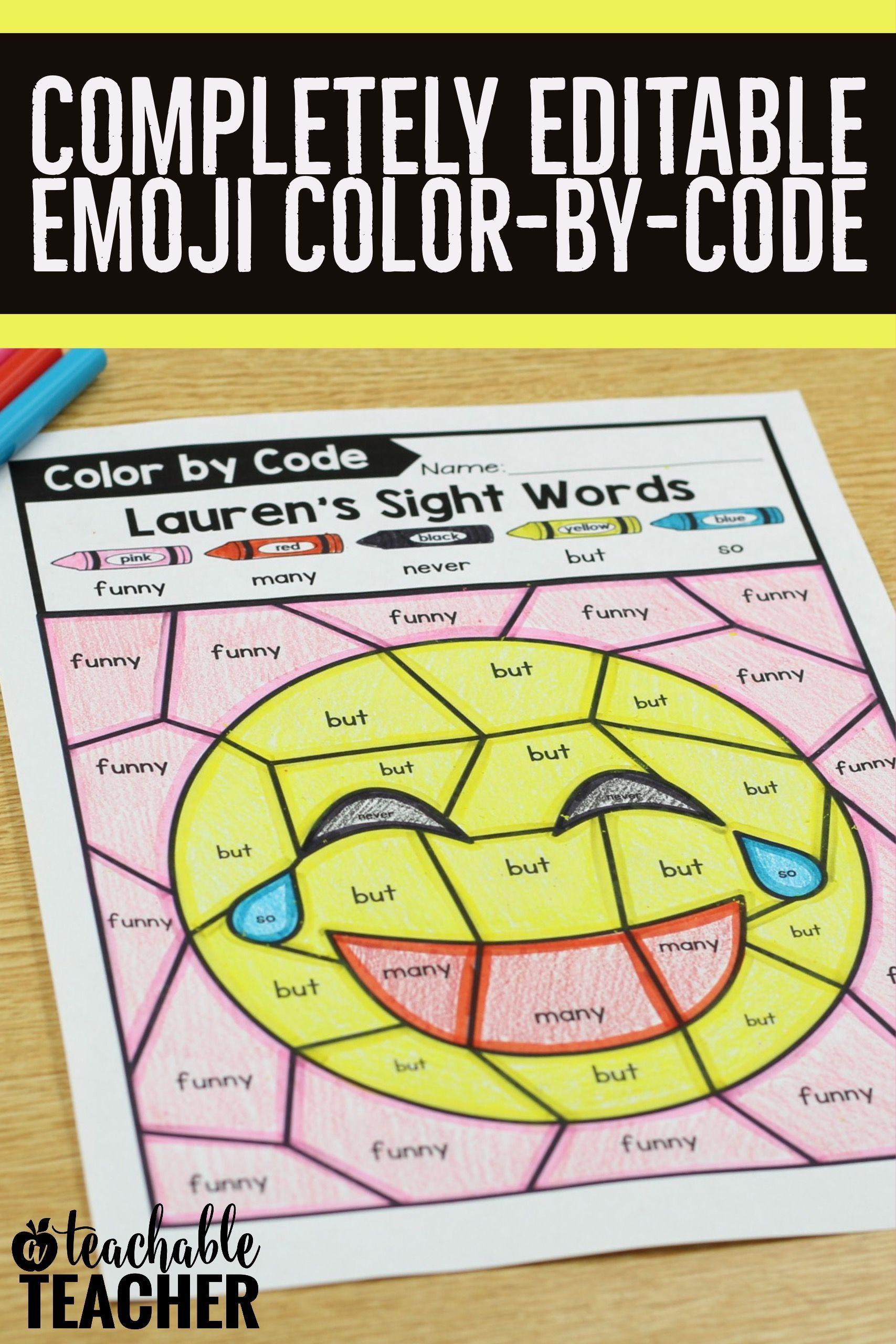 Emoji Editable Color By Code