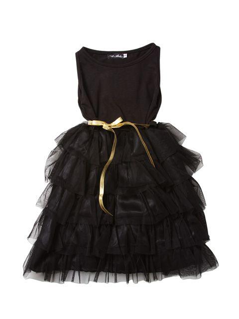 Vestido negro de fiesta para nina