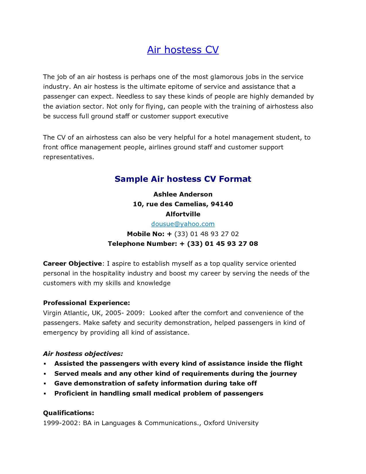 Sample Resume For Aviation Industry Sample Resume For