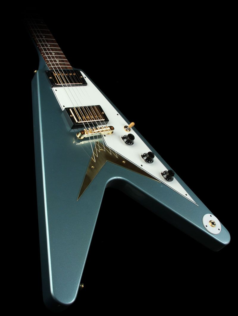 gibson flying v pelham blue turns green as it ages pelham blue gibson korina custom shop flying v