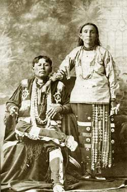 An unidentified Kaw man and his wife. No date or additional information re: this photo.