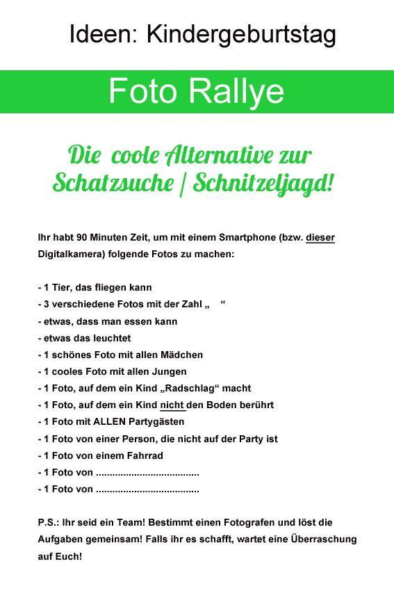 Foto Rallye  Kindergeburtstag. Kindergeburtstag SpieleKinder Geburtstag40er  ...