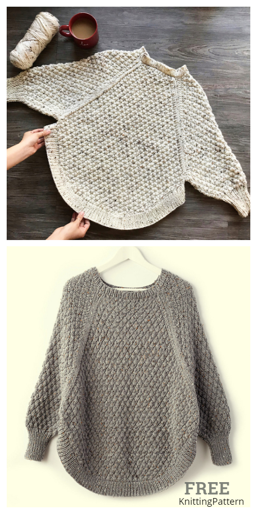 Great Curves Poncho Free Knitting Pattern + Video