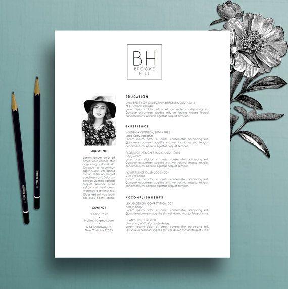 Modèle de CV professionnel moderne de modèle de résumé, mot de SP, modèle créateur de résumé, résumé simple, résumé d'enseignant, téléchargement instantané, Brooke