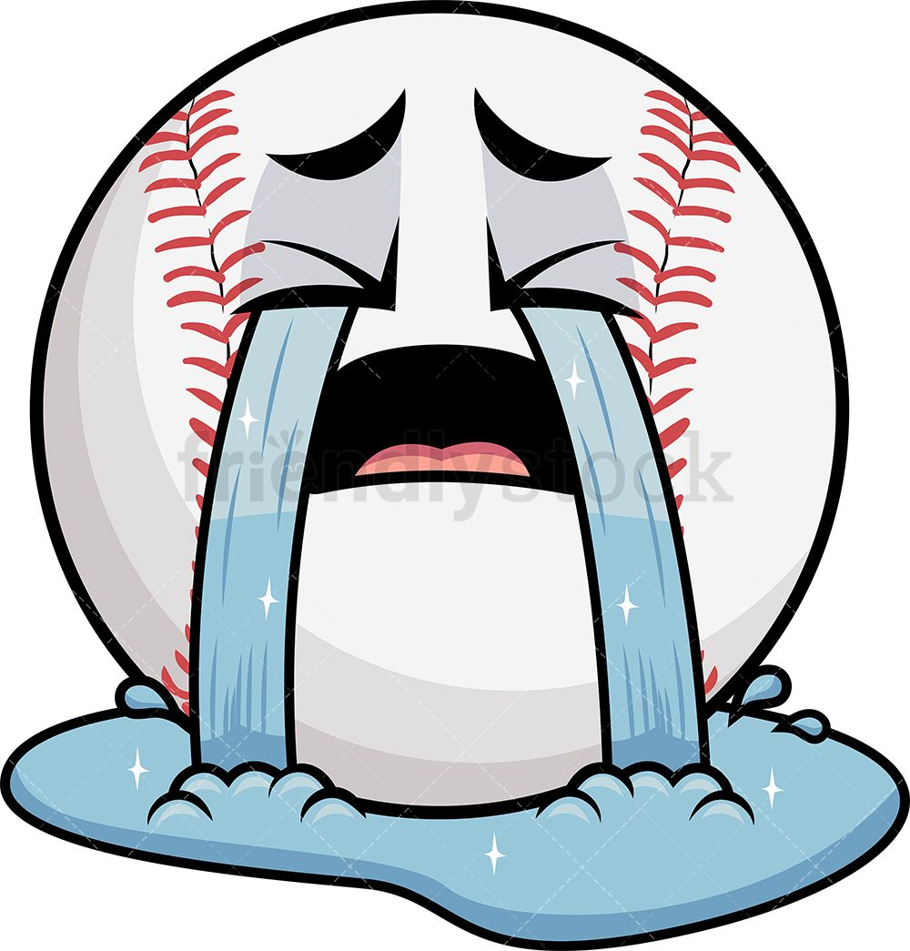 Crying Out Loud Baseball Emoji With Images Emoji Clipart