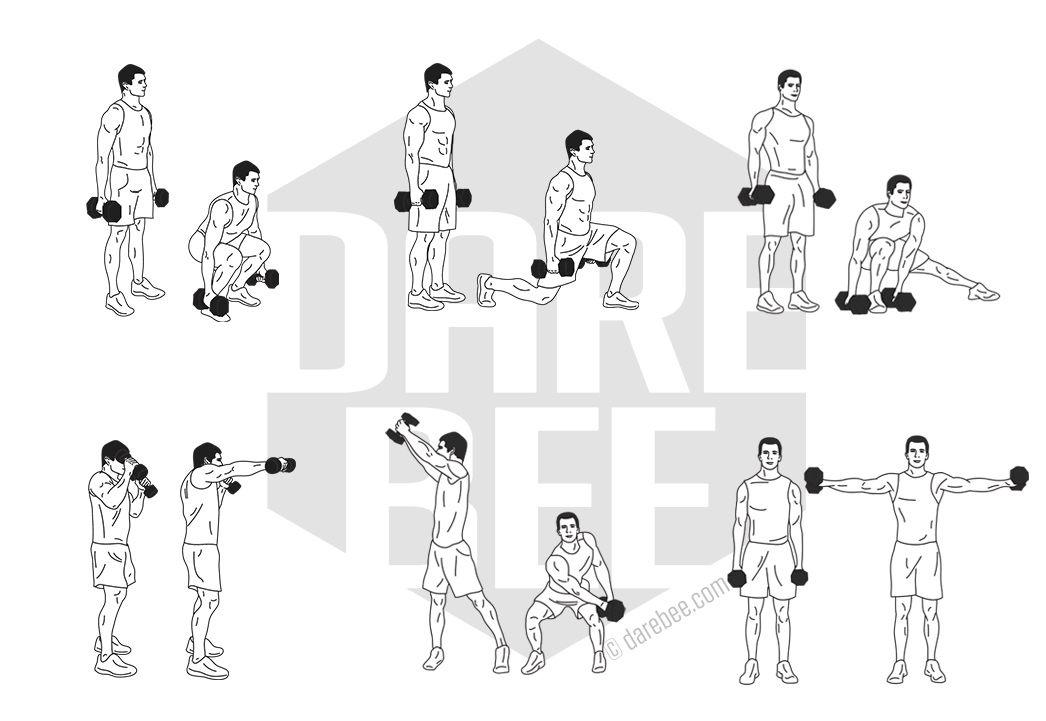 вам простые упражнения с гантелей в картинках работал над