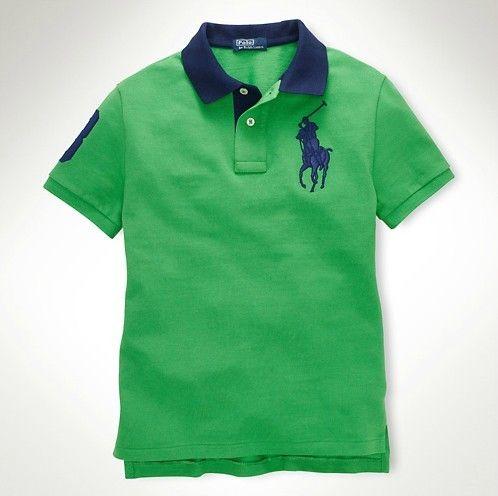 Cheap ralph lauren polo shirts, polo big pony short sleeved green navy  men's nk236zzcl6m new