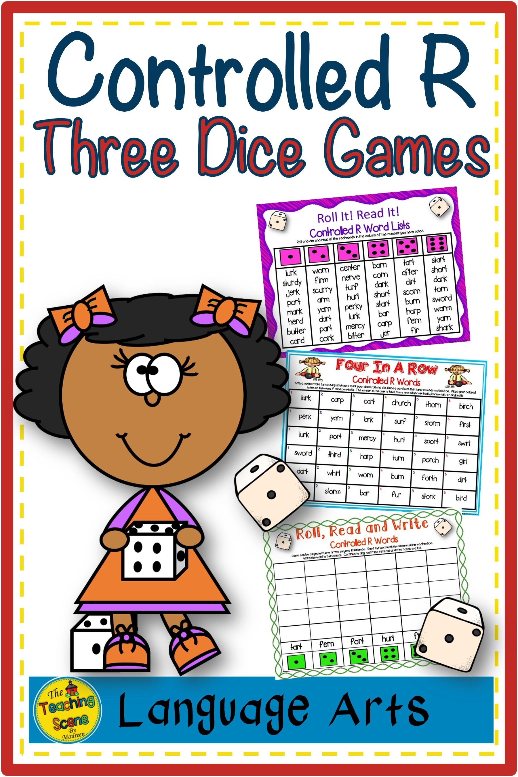 Three Phonics R Controlled Vowels Bossy R Dice Games