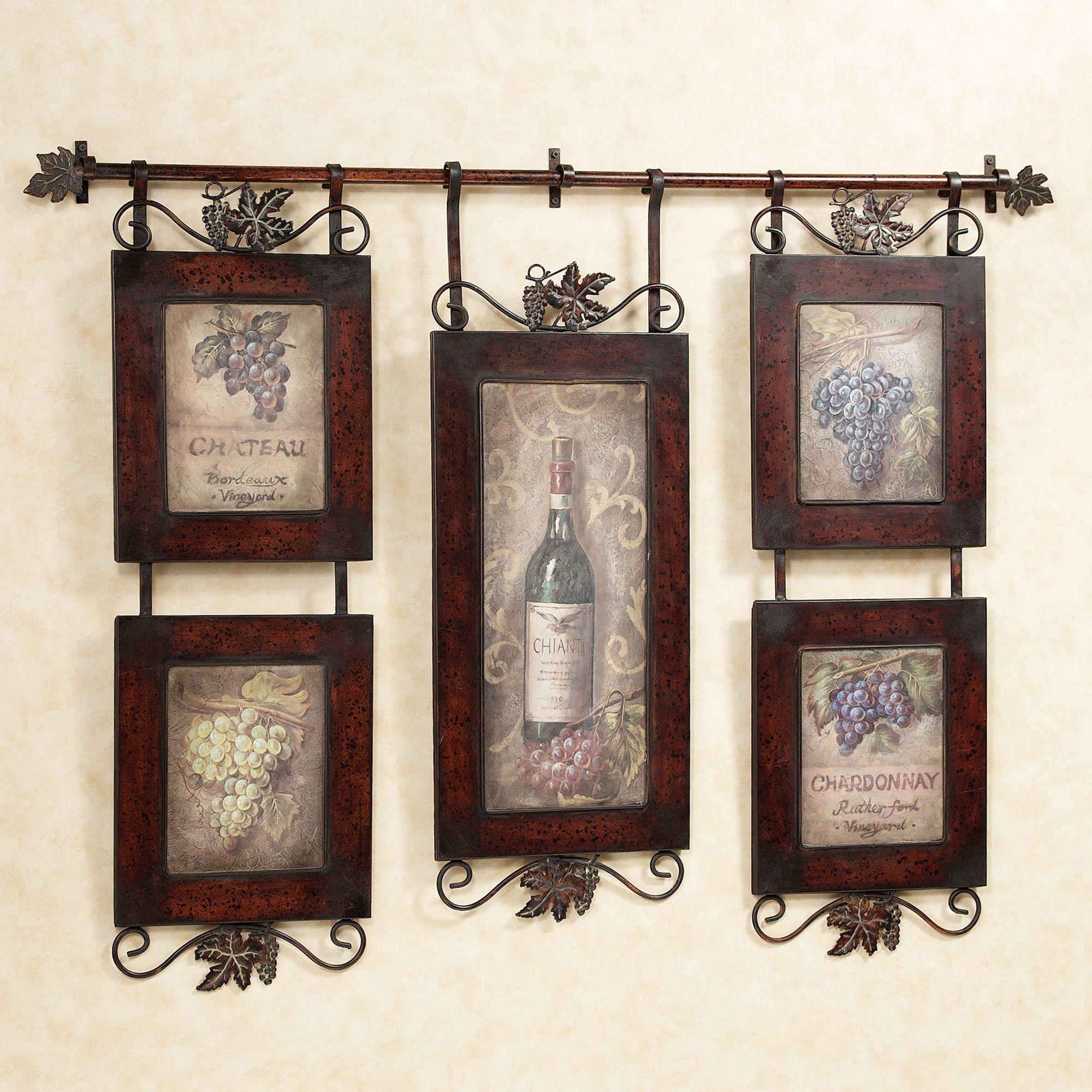 Emilion Wine Wall Art House Decor Kitchen Decor Grape Kitchen