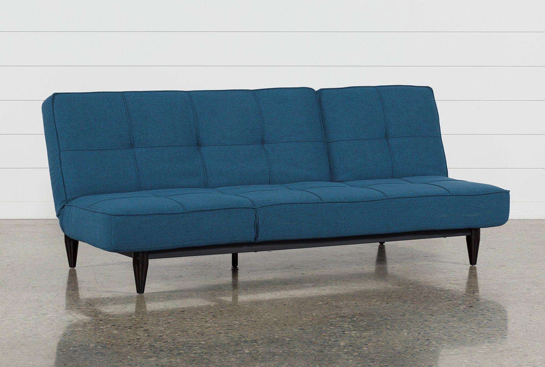 Paige Blue Convertible Sofa Chaise Sleeper Chaise Sofa Convertible Sofa Classic Sofa Bed