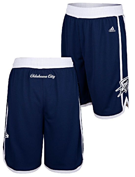 quality design 287de a08b1 Oklahoma City Thunder Navy Embroidered Swingman Shorts By Adidas  64.95