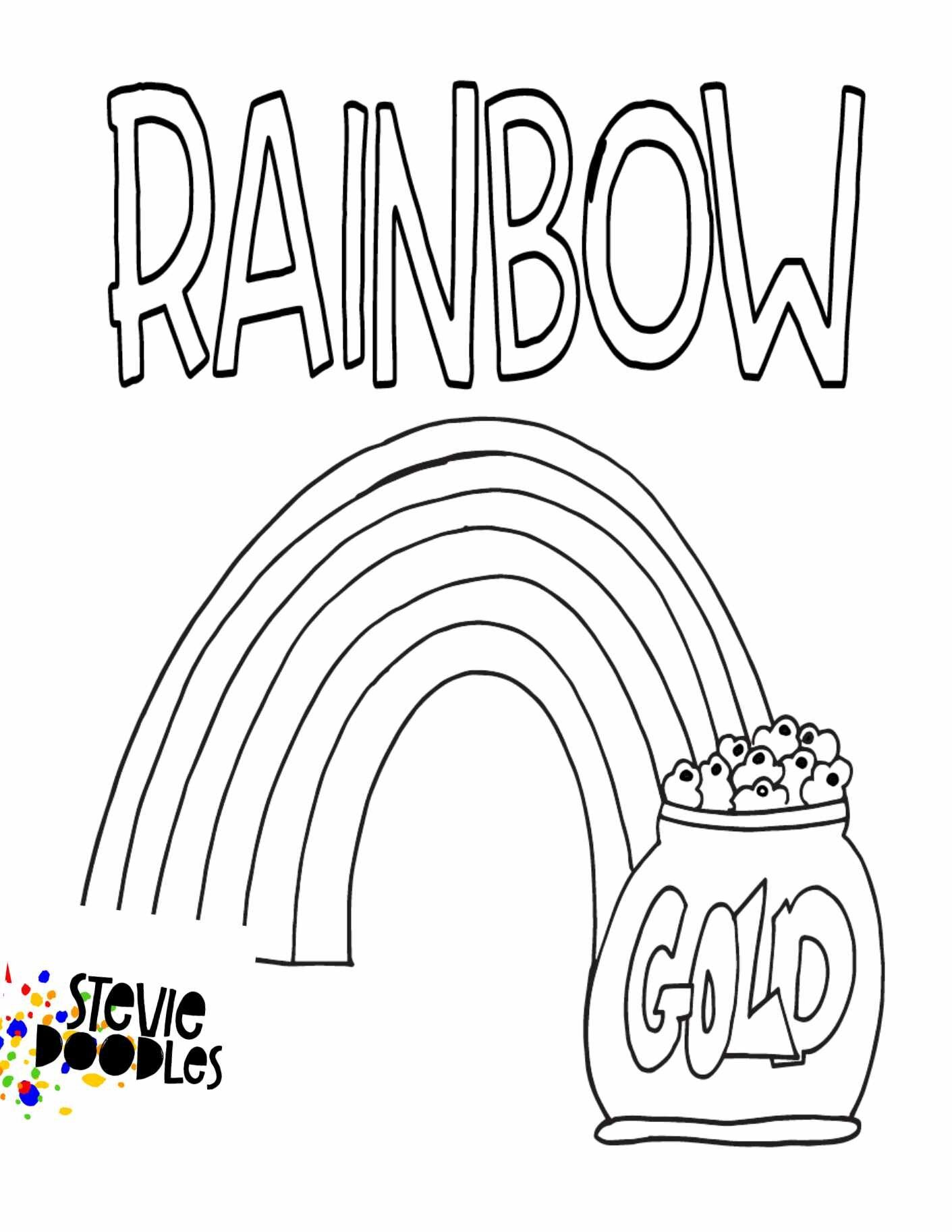 Rainbow With Gold Free Printable Coloring Page Stevie Doodles Free Printable Coloring Pages Free Kids Coloring Pages Kindergarten Coloring Pages [ 1826 x 1411 Pixel ]