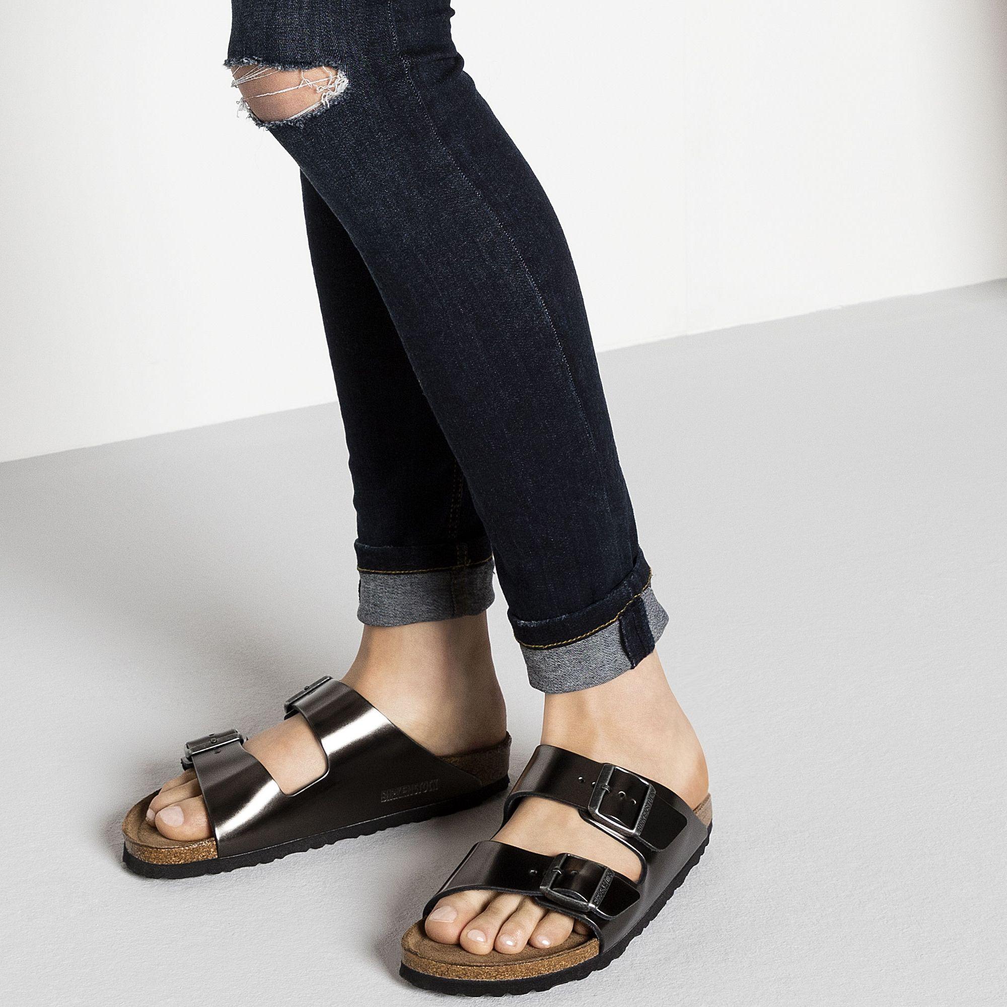 761590c0d8de Arizona Soft Footbed Leather Metallic Anthracite